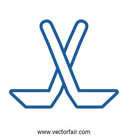 ski winter sport sticks equipment