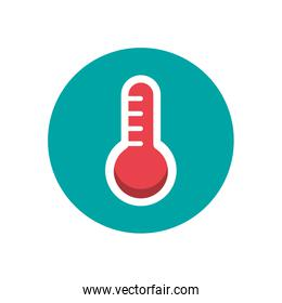 thermometer temperature measure isolated icon