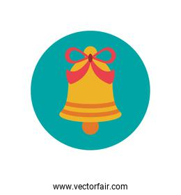 merry christmas bell decoration icon
