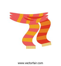 scarf winter clothes isolated design
