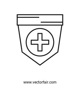 shield security guard isolated icon