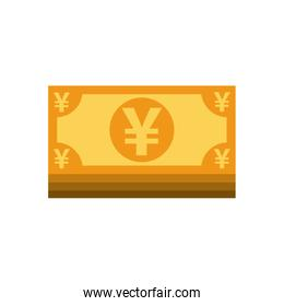 yens bills money isolated icon