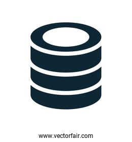 data center disks isolated icon