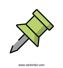paper note pin isolated icon