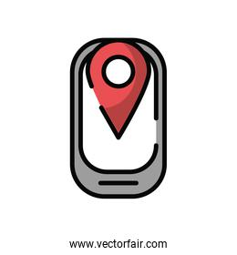 smartphone with pin location gps