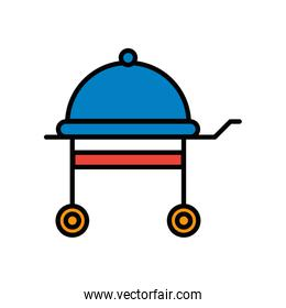 grill oven appliance isolated icon