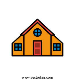 house front facade isolated icon