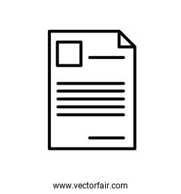 paper document file isolated icon