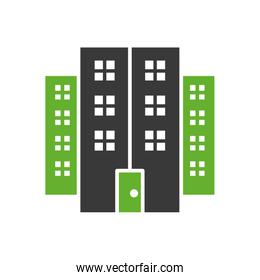 facade building front isolated icon