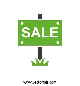 house sale label isolated icon