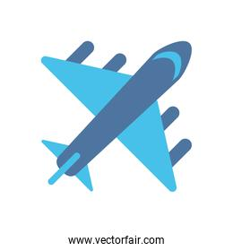 airplane flying travel isolated icon