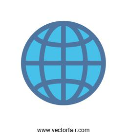 sphere planet browser isolated icon