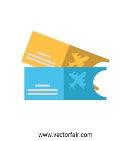 tickets flight documents isolated icon
