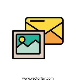 envelope mail with image file postal service