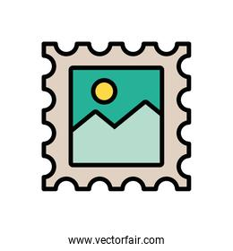 stamp postal service isolated icon