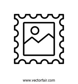 stamp postal service isolated design
