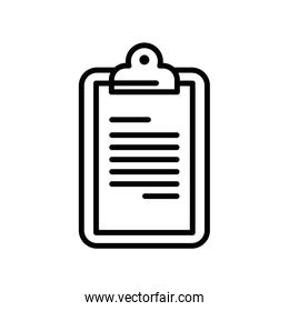 checklist clipboard document linear style