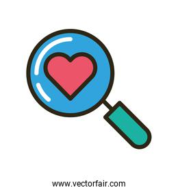search magnifying glass isolated icon