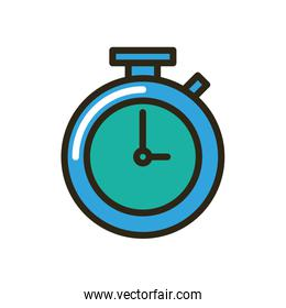 chronometer timer device isolated icon