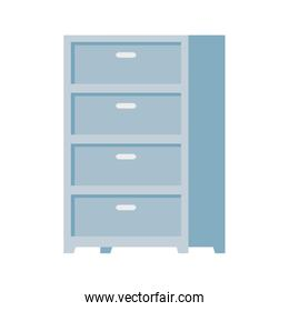 drawer furniture decoration isolated icon