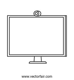 computer desktop device isolated icon