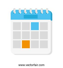 white and blue calendar reminder date