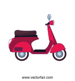 classic red motorcycle icon