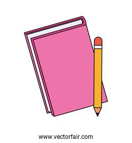 notebook and pencil icon, colorful design