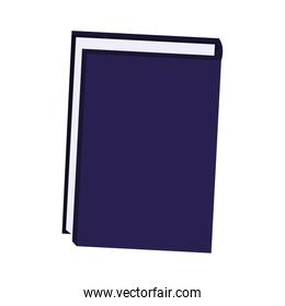 notebook icon over white background