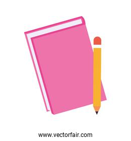 pink notebook and pencil icon