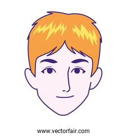 man face smiling icon image, colorful design