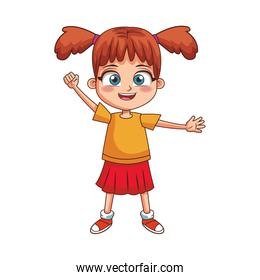 cartoon girl smiling icon, colorful design