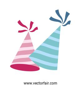 party hats icon, colorful design