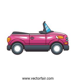 cartoon sport car icon, colorful design