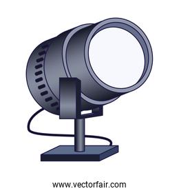 stage light icon, colorful design