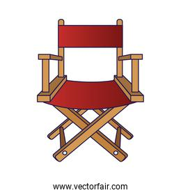 chair of director isolated icon