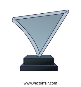 glass trophy icon, flat design