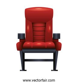 theater chair icon over white background