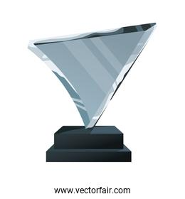 glass trophy icon, colorful design