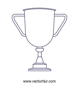 trophy cup icon, flat design