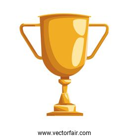 trophy cup icon, colorful design