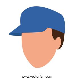 avatar man wearing a cap icon, colorful design