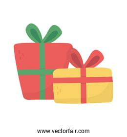 wrapped gift boxes decoration party icon