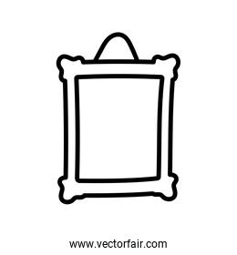 frame photo hanging empty icon thick line