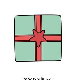 wrapped gift box star decoration party design