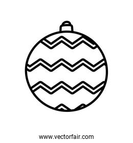 merry christmas celebration ball lines decoration thick line