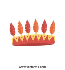 crown with feathers party decoration design