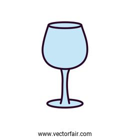 glass cup icon on white background