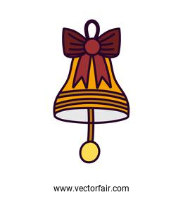 merry christmas celebration bell with bow decoration