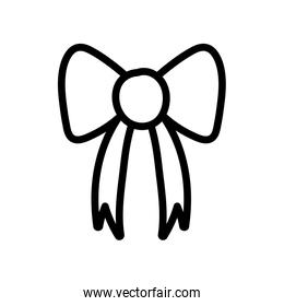 gift bow decoration icon thick line